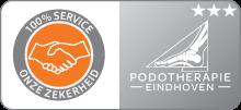 Schild 100 procent service podotherapie eindhoven